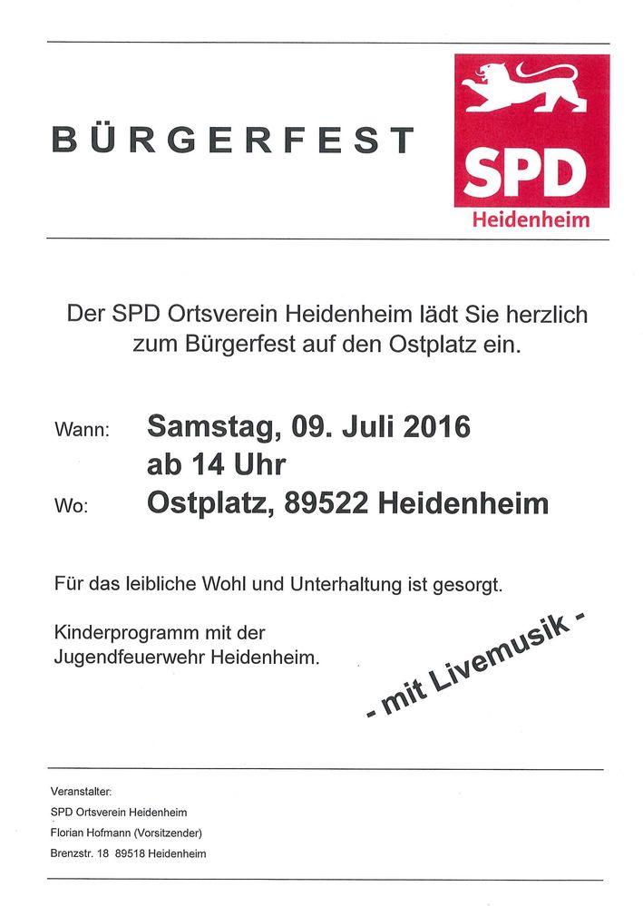 Einladung zum Ostplatzfest