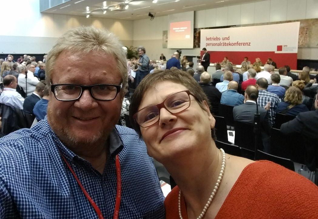 Leni Breymaier und Hans-Peter Neff bei der SPD-Betriebsrätekonferenz
