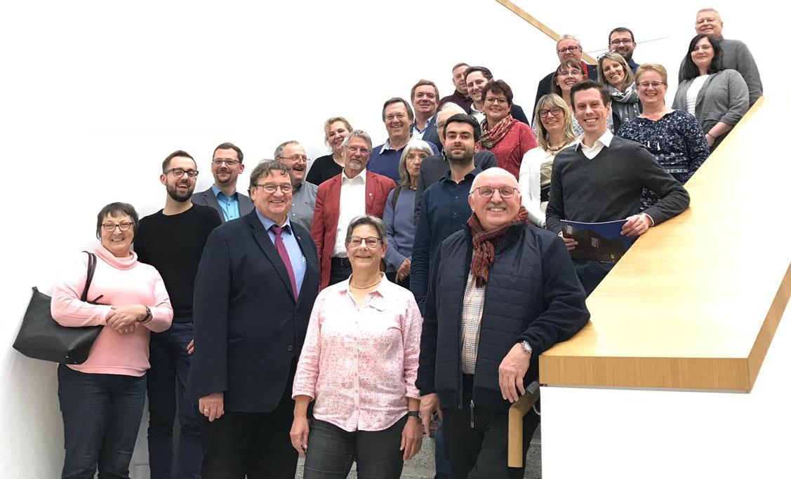 Gruppenbild bei der Führung in der Stadtbibliothek
