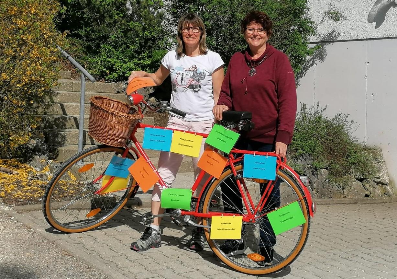Das rote SPD-Fahrrad